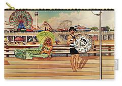 Coney Island Boardwalk Pillow Mural #4 Carry-all Pouch