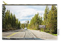 Carry-all Pouch featuring the photograph Continental Divide In Yellowstone National Park by Tatiana Travelways
