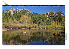 Carry-all Pouch featuring the photograph Cool Calm Rocky Mountains Autumn Reflections by James BO Insogna