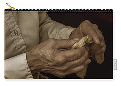 Carry-all Pouch featuring the photograph Corn Husk Doll Maker by Guy Whiteley