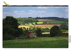 Carry-all Pouch featuring the photograph Cotswold Field England 81601 by Rick Veldman