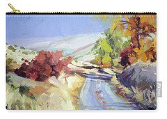 Carry-all Pouch featuring the painting Country Blue Sky by Steve Henderson