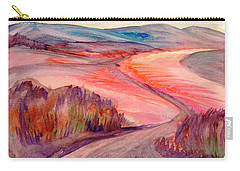 Carry-all Pouch featuring the painting Country Road by Dobrotsvet Art