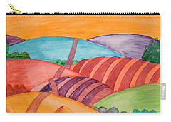 Carry-all Pouch featuring the painting Countryside by Dobrotsvet Art