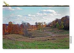 Carry-all Pouch featuring the photograph Countryside In The Fall by Angela Murdock