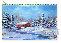 Covered Bridge Sketch Carry-all Pouch