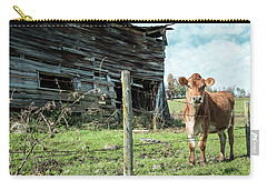 Cow By The Old Barn, Earlville Ny Carry-all Pouch