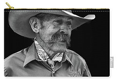 Carry-all Pouch featuring the photograph Cowboy by Jim Mathis