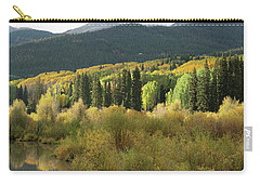 Carry-all Pouch featuring the photograph Crested Butte Colorado Fall Colors Panorama - 1 by OLena Art Brand