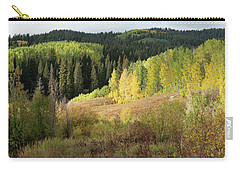 Carry-all Pouch featuring the photograph Crested Butte Colorado Fall Colors Panorama - 2 by OLena Art Brand