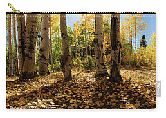 Carry-all Pouch featuring the photograph Crested Butte Colorado Fall Colors Panorama - 3 by OLena Art Brand