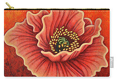 Carry-all Pouch featuring the painting Crimson Quest by Amy E Fraser