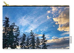 Carry-all Pouch featuring the photograph Crisp Skies by Brian Eberly