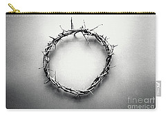 Crown Of Thorns In Black And White  Carry-all Pouch