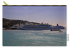 Carry-all Pouch featuring the photograph Cruise Ships by Tony Murtagh