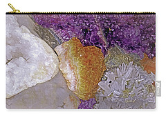 Carry-all Pouch featuring the mixed media Crystal Stand 14  by Lynda Lehmann