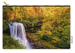 Carry-all Pouch featuring the photograph Cullasaja Falls In Full Bloom by Andy Crawford