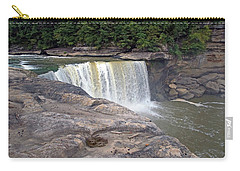 Carry-all Pouch featuring the photograph Cumberland Falls In The Evening by Mike Murdock