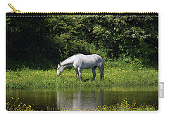 Cumbria. Ulverston. Horse By The Canal Carry-all Pouch