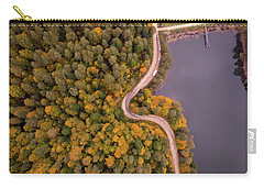 Curved Road At Lakeside Carry-all Pouch