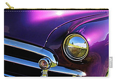 Carry-all Pouch featuring the photograph Custom Purple Chevy by David King