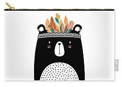 Cute Tribal Bear - Boho Chic Ethnic Nursery Art Poster Print Carry-all Pouch