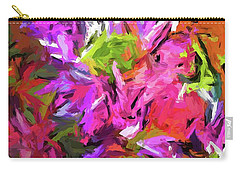 Daisy Rhapsody In Purple And Pink Carry-all Pouch