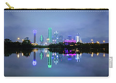 Carry-all Pouch featuring the photograph Dallas Cityscape Reflection by Robert Bellomy