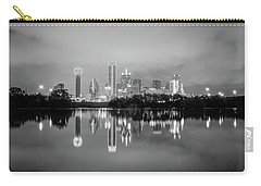 Dallas Cityscape Reflections Black And White Carry-all Pouch