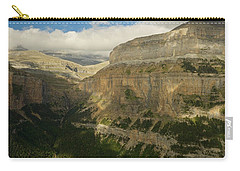 Carry-all Pouch featuring the photograph Dappled Light In The Ordesa Valley by Stephen Taylor