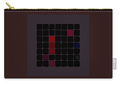 Carry-all Pouch featuring the digital art Dark Red by Attila Meszlenyi