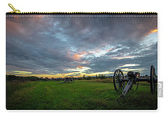 Carry-all Pouch featuring the photograph Dawn At Gettysburg by Ronald Santini