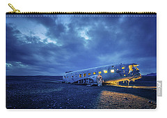 Dc-3 Plane Wreck Illuminated Night Iceland Carry-all Pouch