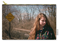 Carry-all Pouch featuring the photograph Dead End by Carl Young