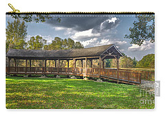 Deck At Pickerington Ponds Carry-all Pouch