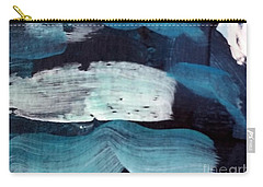 Carry-all Pouch featuring the painting Deep Blue #3 by Maria Langgle