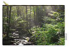 Deep In The Forrest - Sun Rays Carry-all Pouch