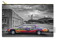 Carry-all Pouch featuring the photograph Delta Blues Limo by Jim Mathis
