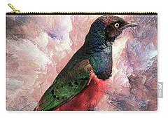 Carry-all Pouch featuring the photograph Desaturated Starling by Kay Brewer