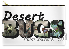 Desert Bugs Big Letter Carry-all Pouch
