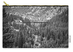 Carry-all Pouch featuring the photograph Devils Gate In Black And White by Jon Burch Photography