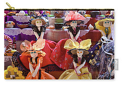 Carry-all Pouch featuring the photograph Dia De Los Muertos Candy Catrinas by Tatiana Travelways