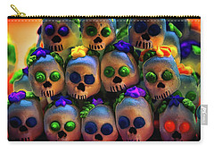 Carry-all Pouch featuring the photograph Dia De Los Muertos Candy Skulls 2 by Tatiana Travelways