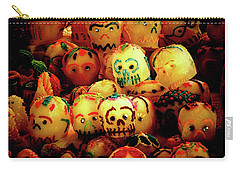 Carry-all Pouch featuring the photograph Dia De Los Muertos Candy Skulls by Tatiana Travelways