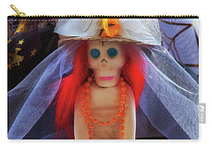 Carry-all Pouch featuring the photograph Dia De Los Muertos Spooky Candy Catrina by Tatiana Travelways