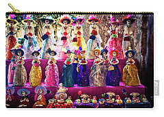 Carry-all Pouch featuring the photograph Dia De Los Muertos Spooky Candy Catrinas by Tatiana Travelways