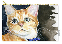 Diego Ginger Tabby Cat Painting Carry-all Pouch