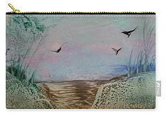Dirt Road Through A Valley Carry-all Pouch