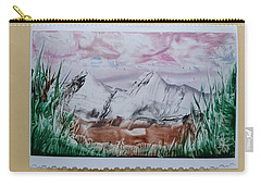 Distant Impressionistic Mountains Carry-all Pouch