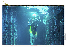 Diver In The Patris Shipwreck Carry-all Pouch